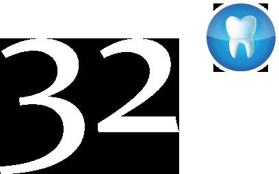 Логотип стоматологии «Клиника 32»