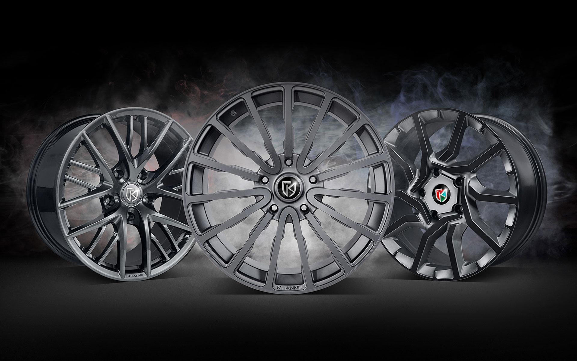 Эскиз эмблемы для колесных дисков компании KHANN